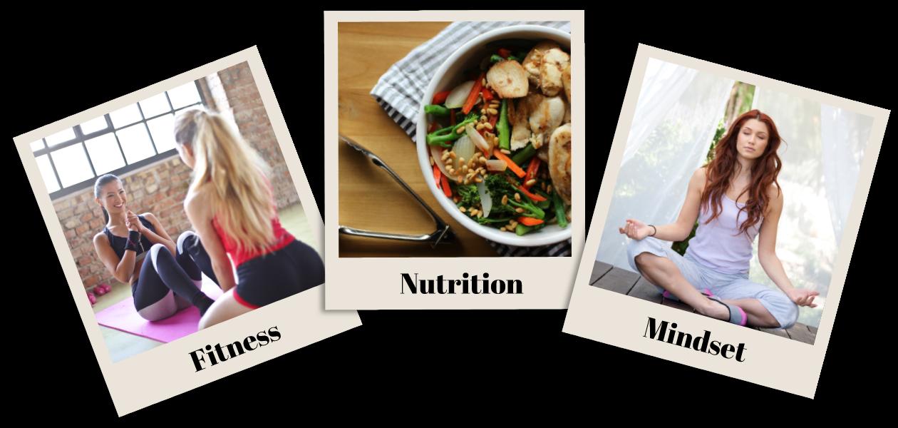 Fitness, nutrition & mindset images